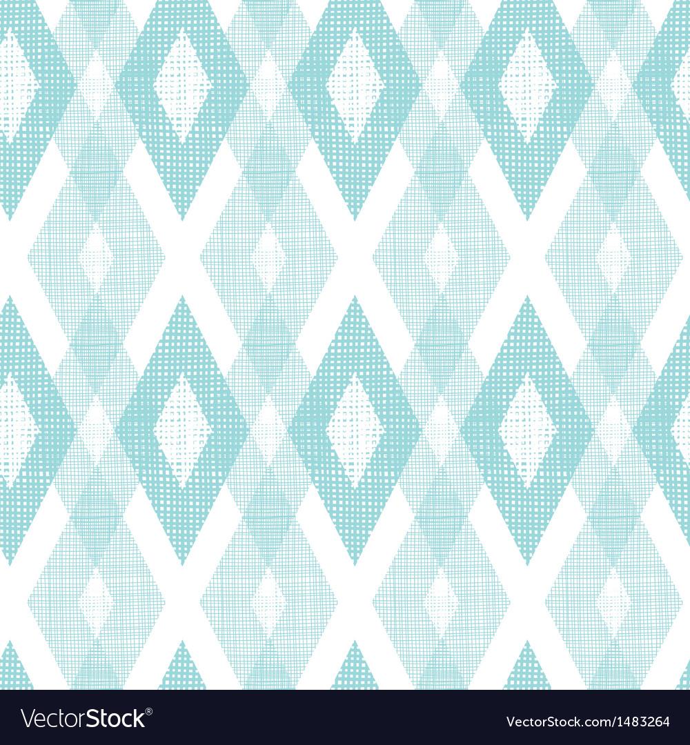 Pastel blue fabric ikat diamond seamless pattern vector image
