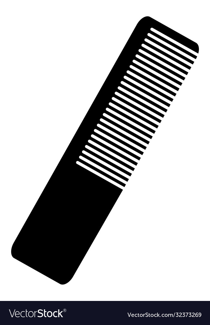 Black cosmetic comb