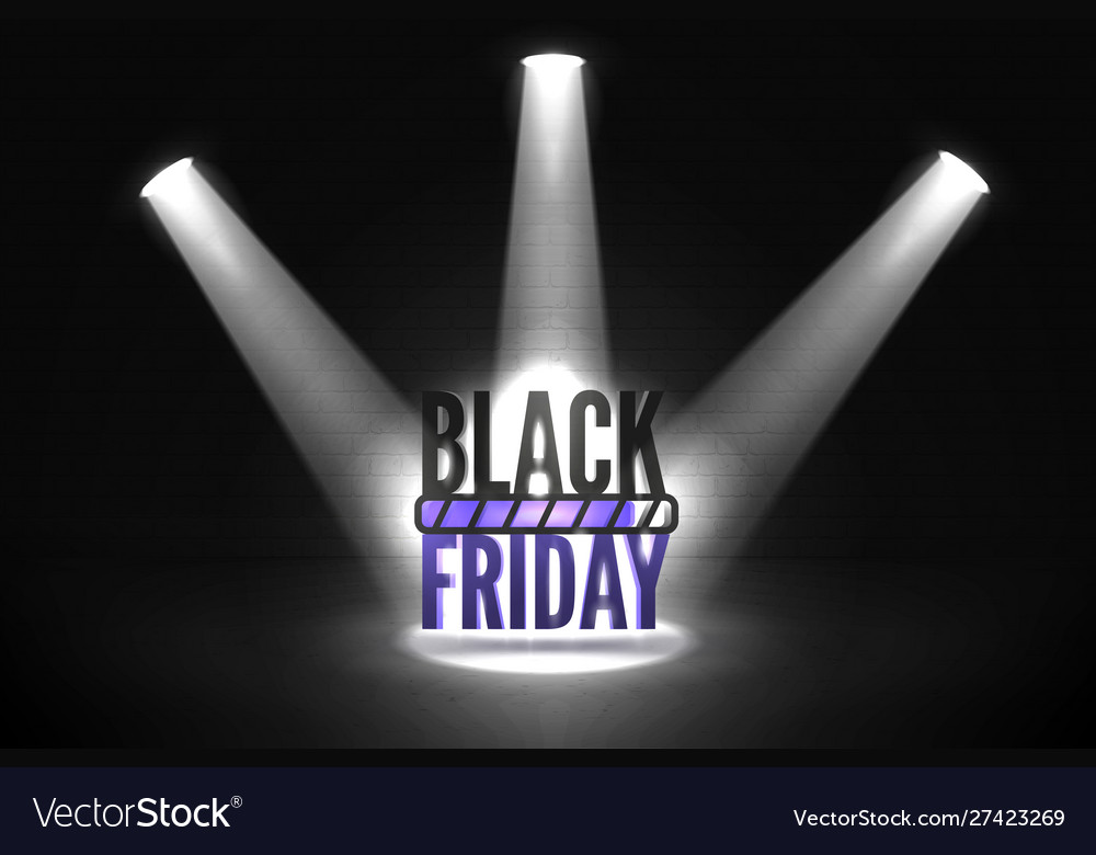Black friday loading realistic banner