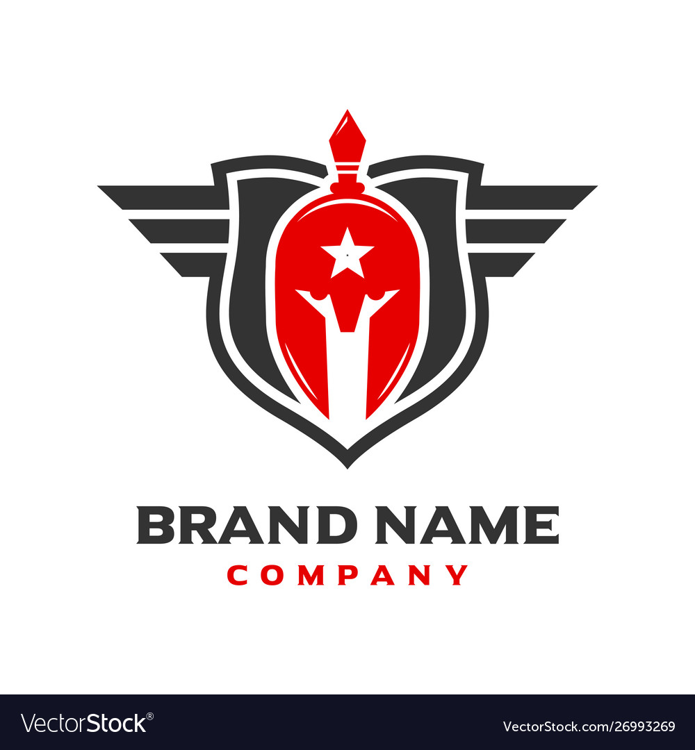 Spartan shield logo design