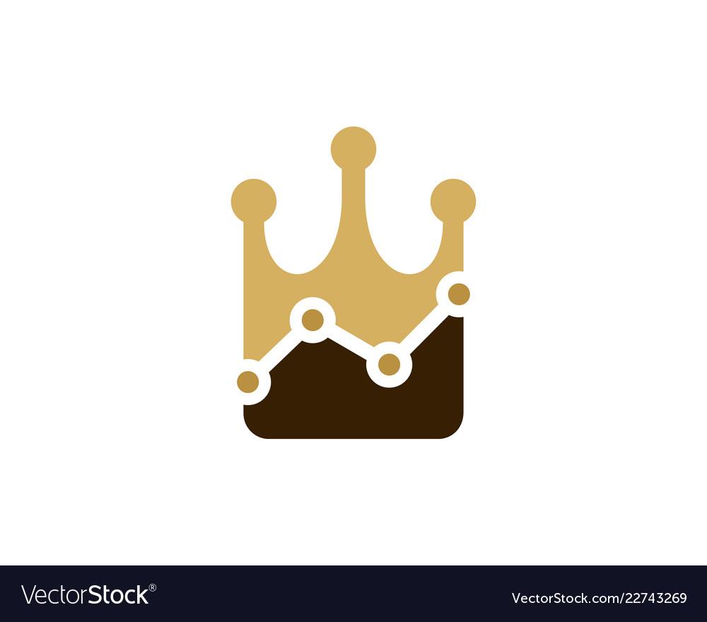 Stats king logo icon design