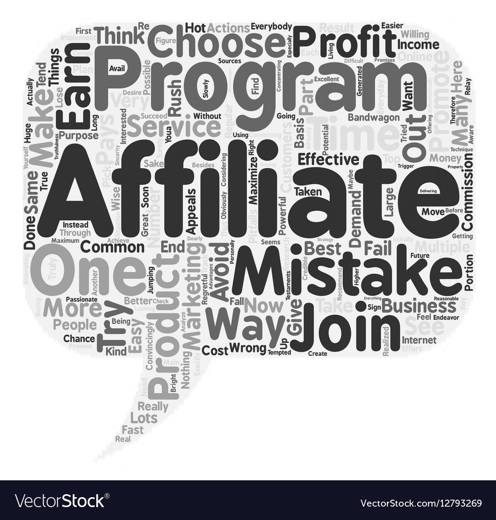 The Most Common Affiliate Mistakes text background