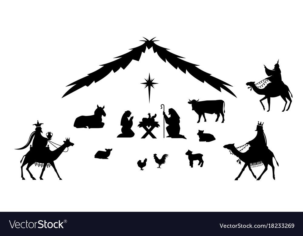Traditional christmas scene