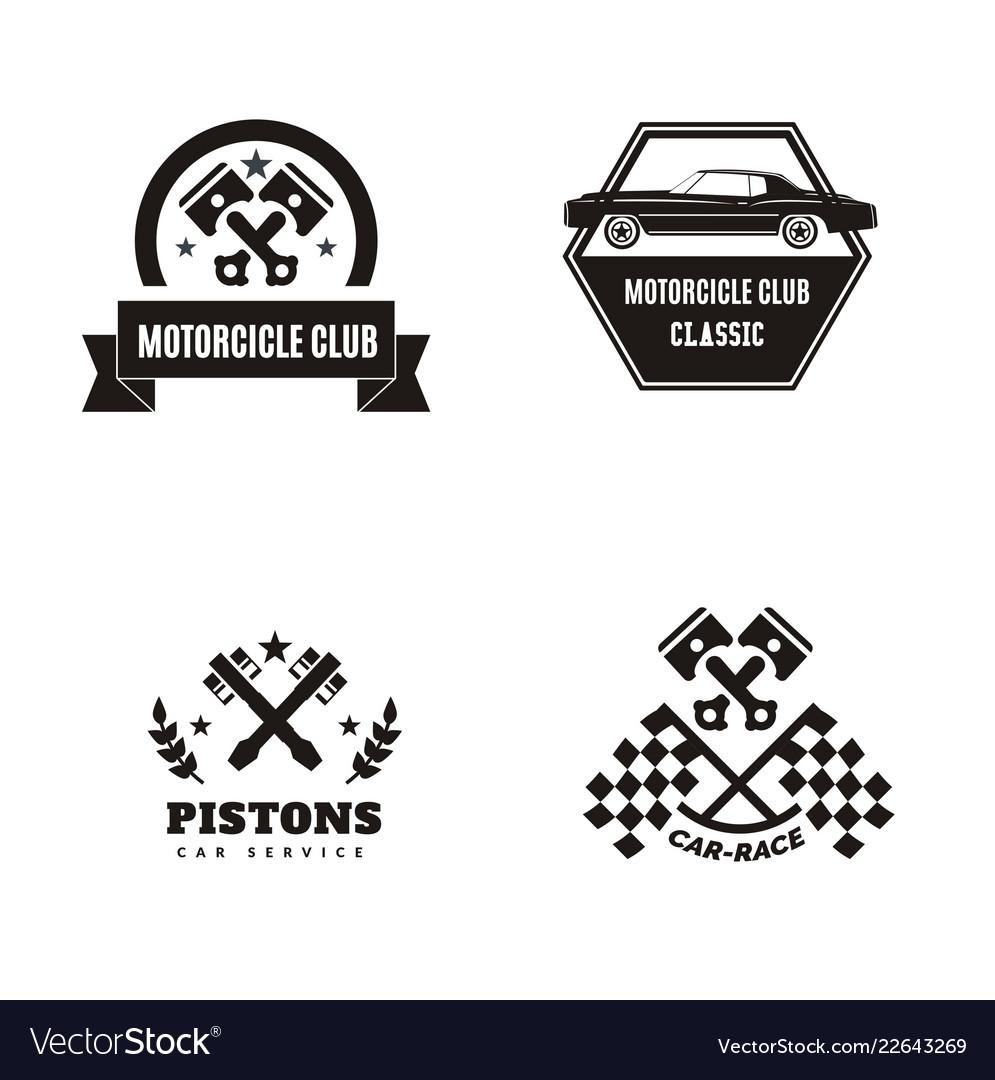 Vintage Car Logo Royalty Free Vector Image Vectorstock