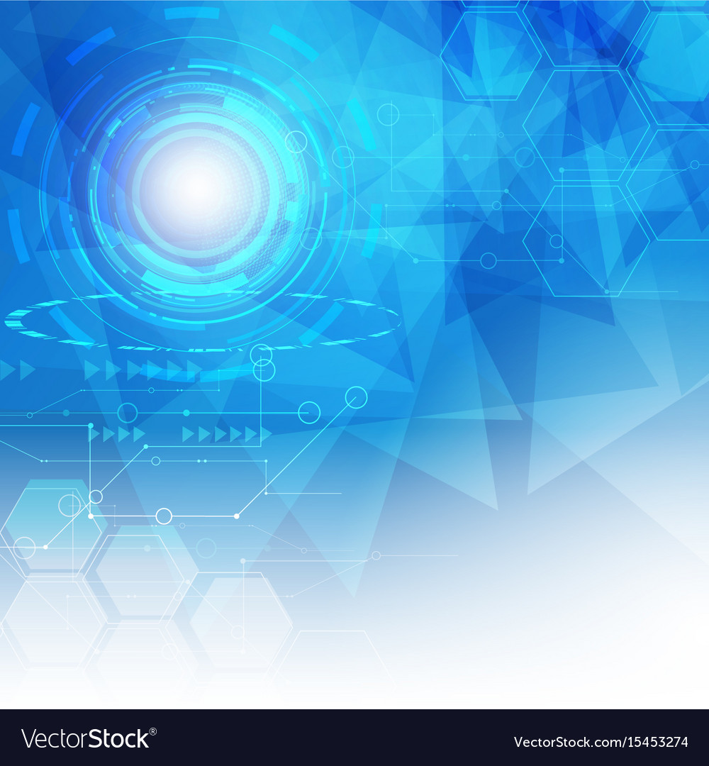 Abstract digital hitech technology background vector image