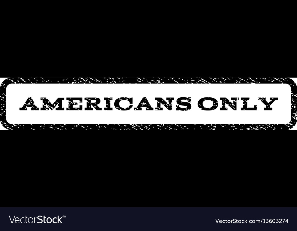 Americans only watermark stamp