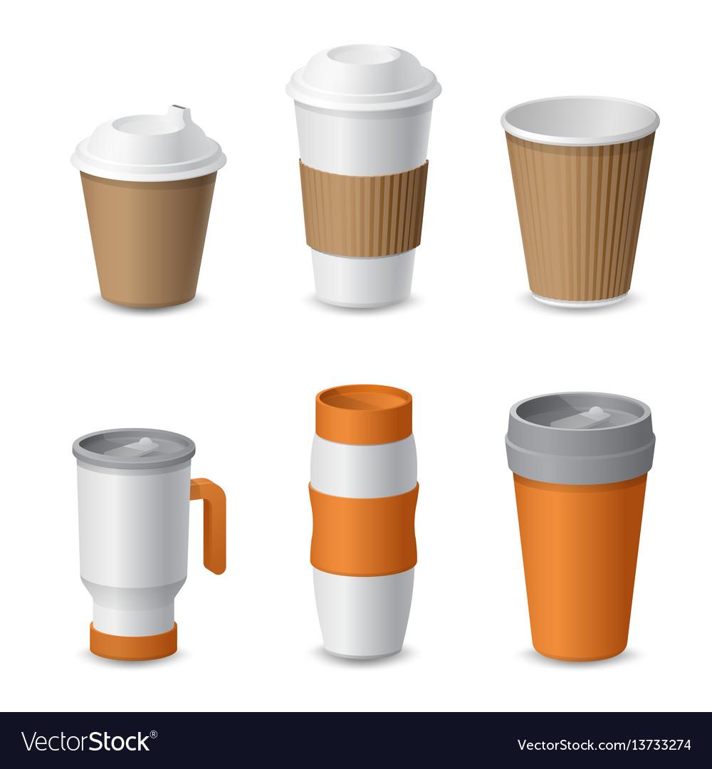 Coffee cup and mug template mockup for branding