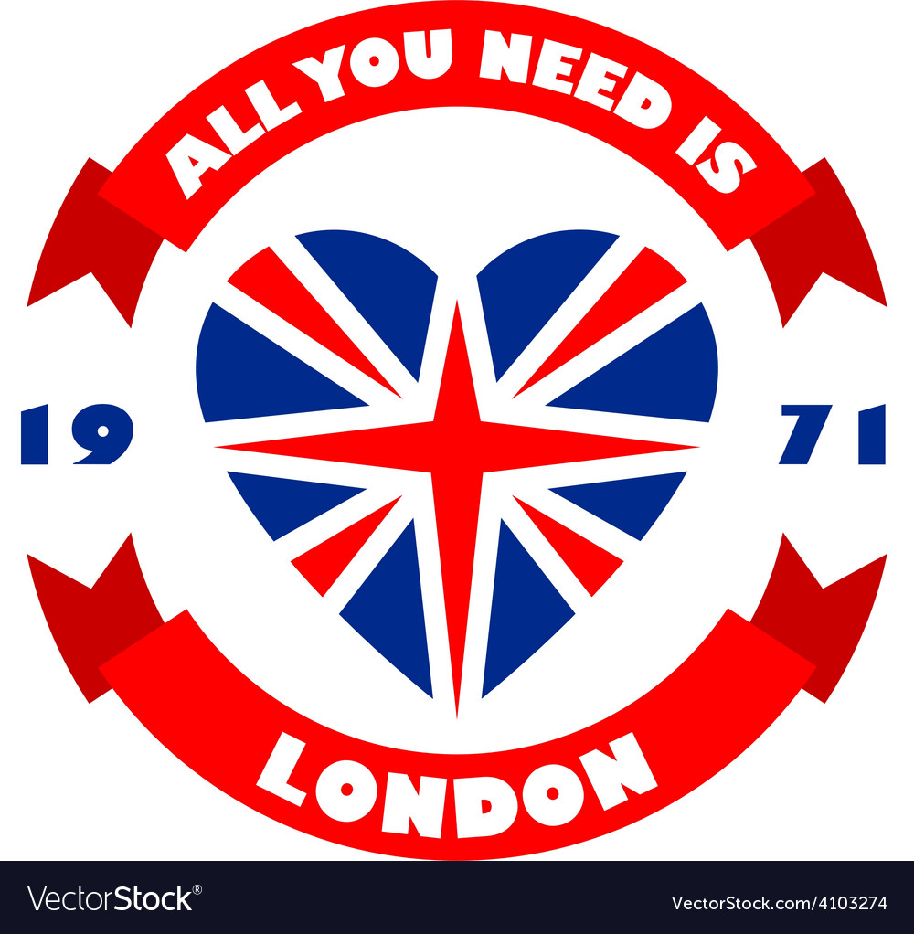 London t-shirt print tee typography design Vintage vector image