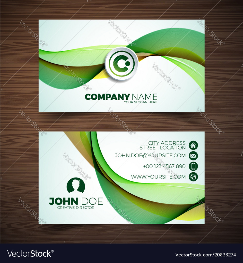 Modern business card design template with vector image fbccfo Image collections