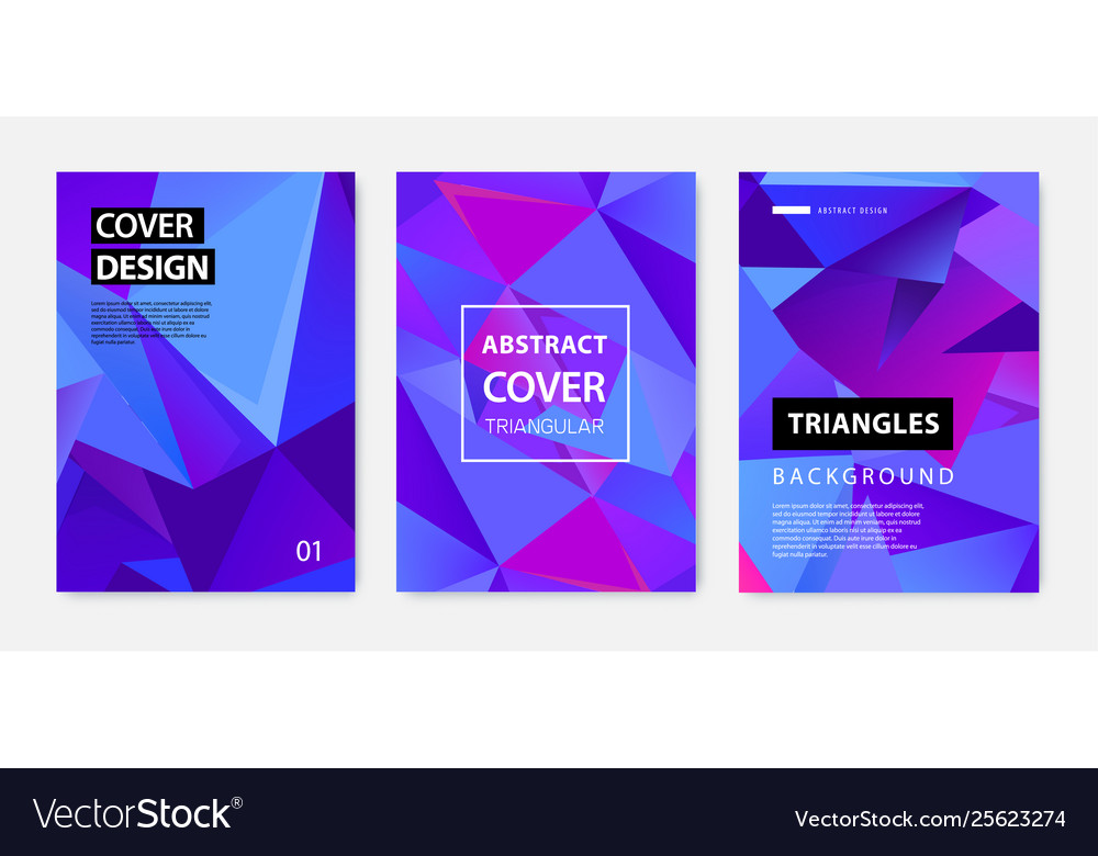 Set abstract geometric covers banners