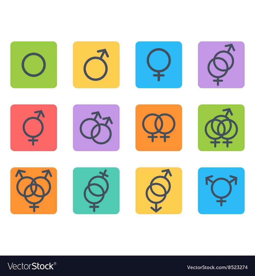 Sexual orientation icons