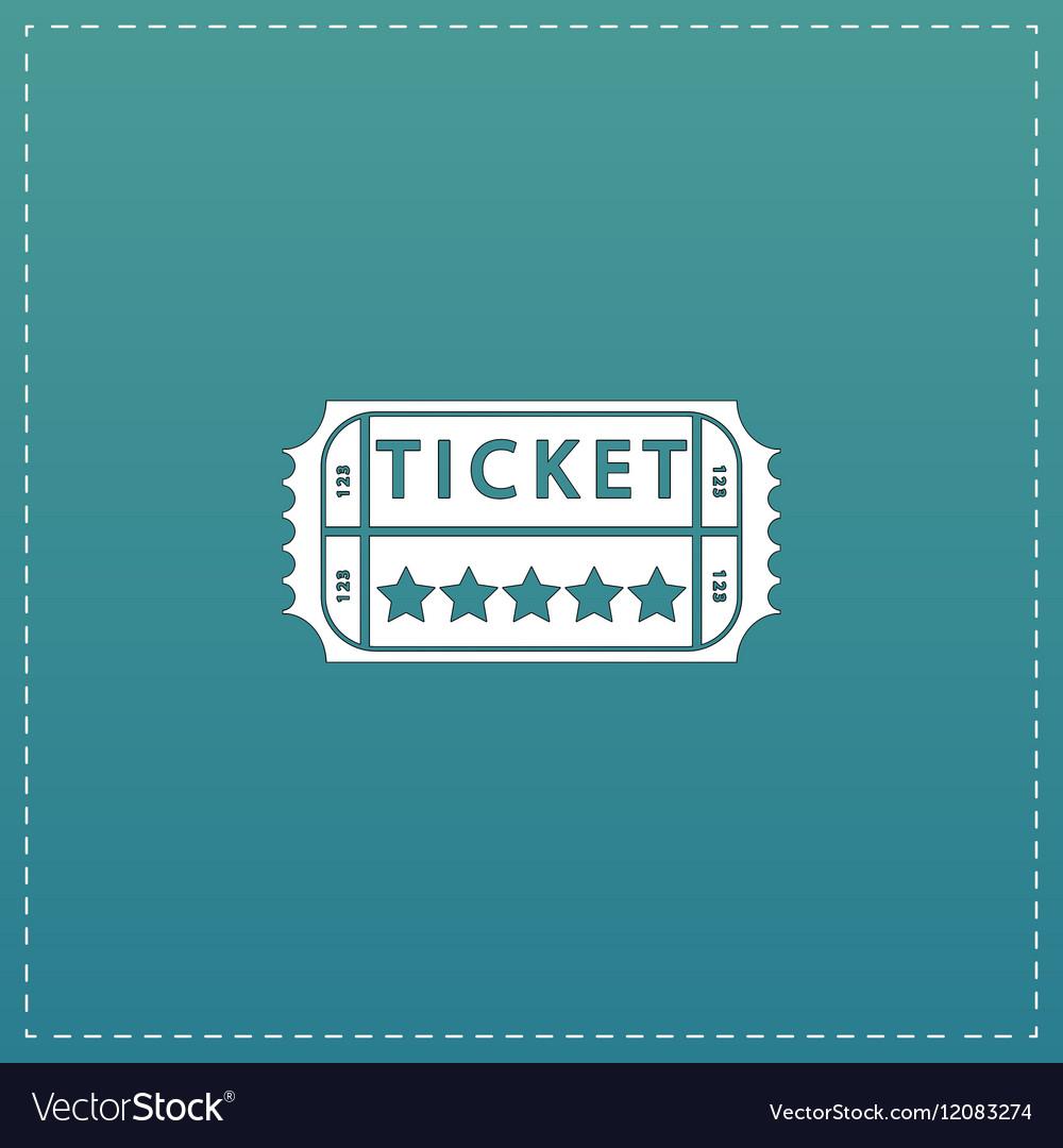 Vintage Ticket Icon on background