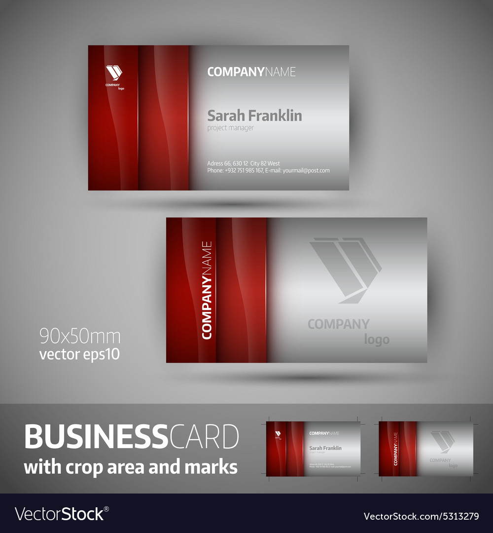 Business card template - elegant