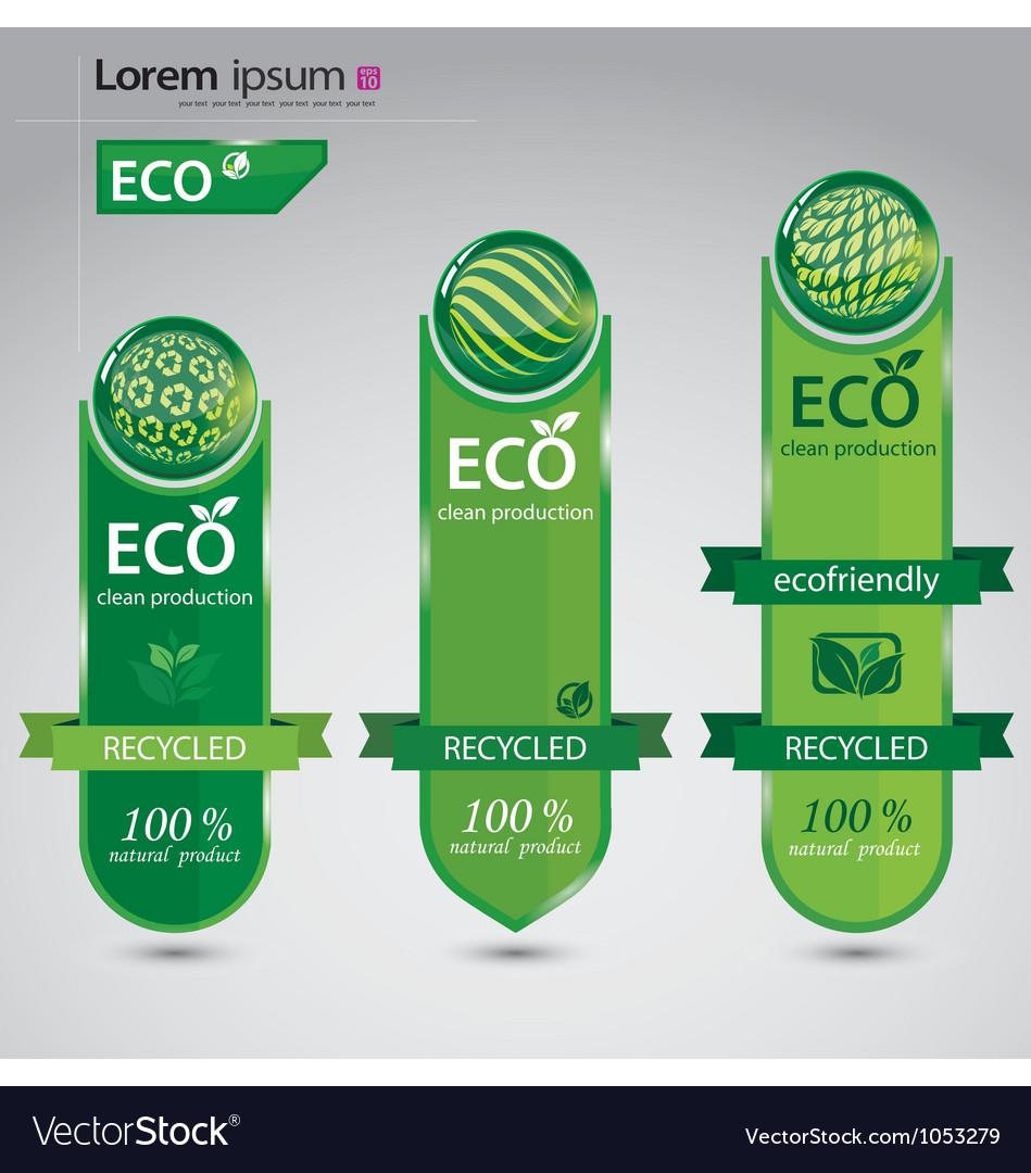 Ecofriendly cards vector image