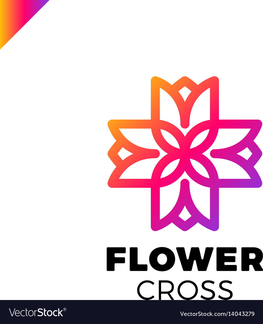 Isolated abstract colorful cross logo