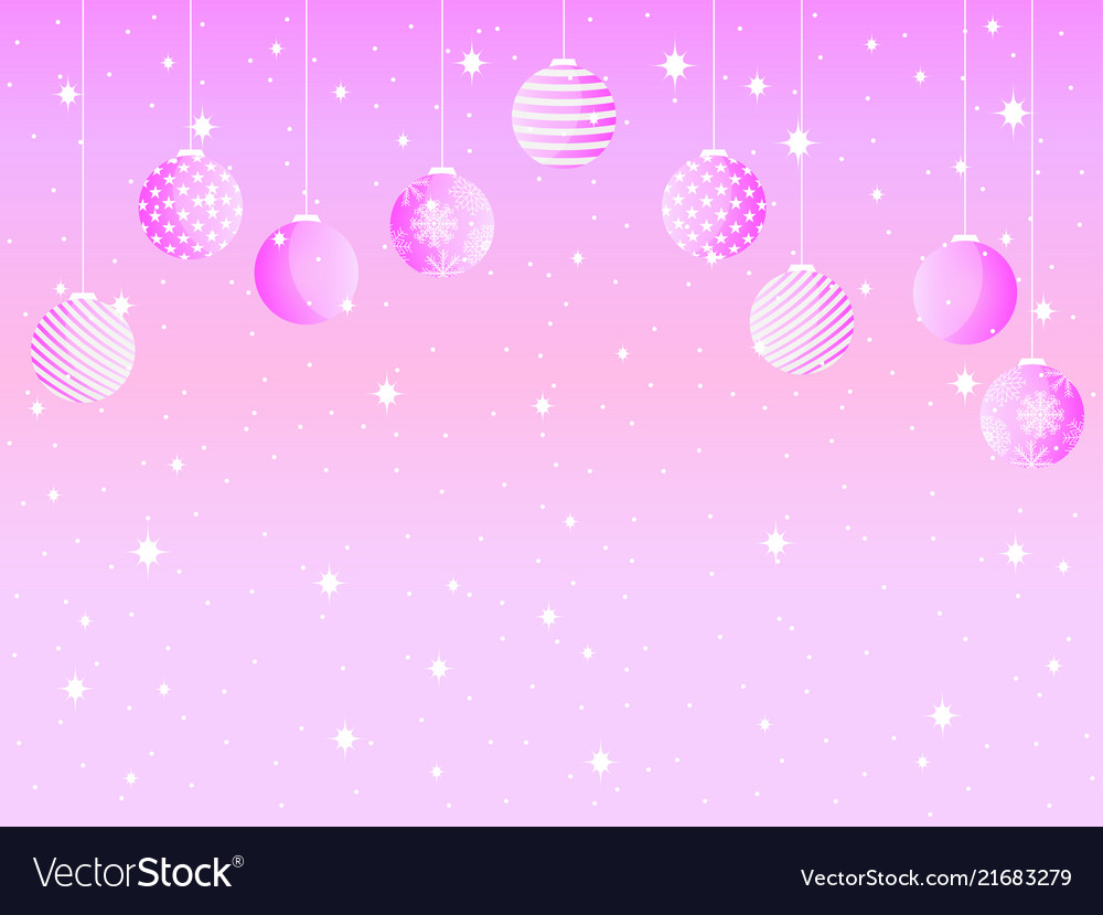 Merry christmas background with christmas balls