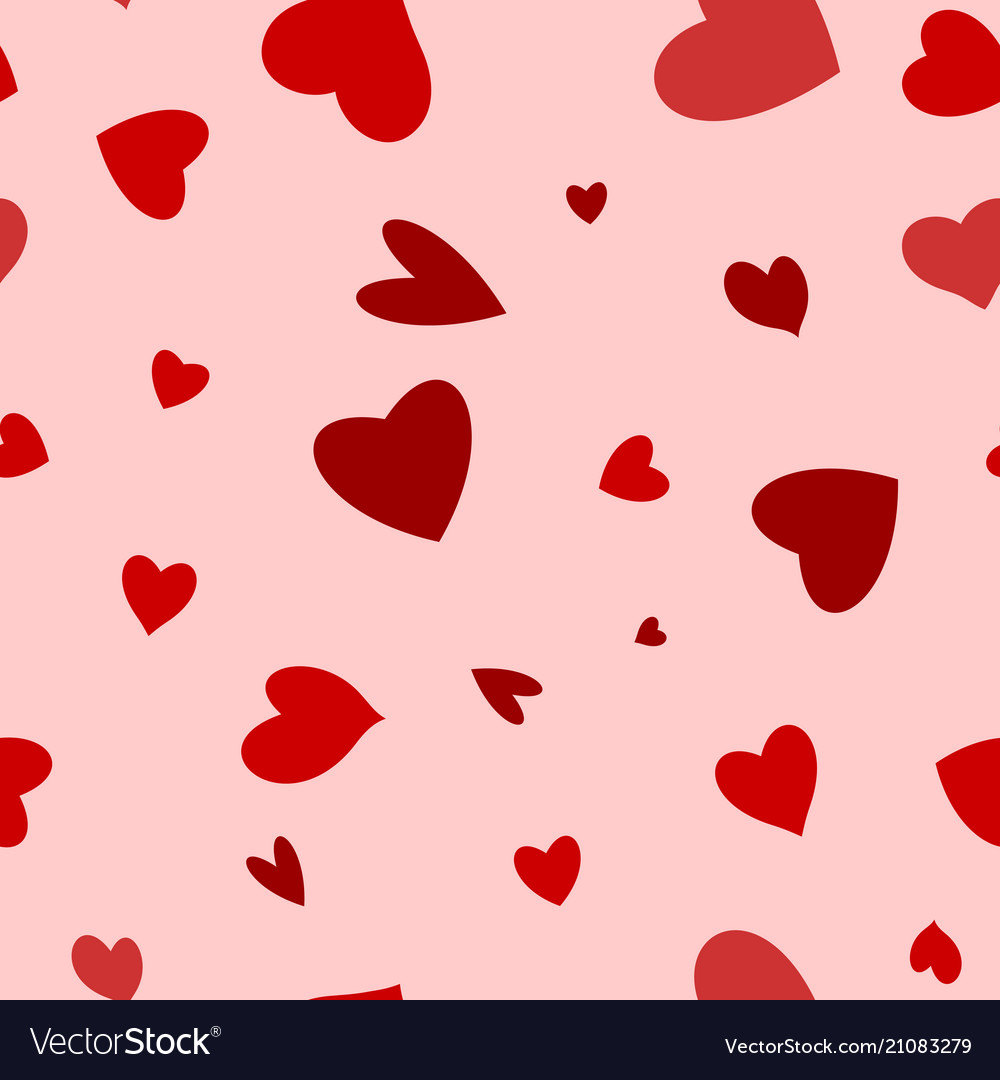 Seamless happy valentines day background with hear
