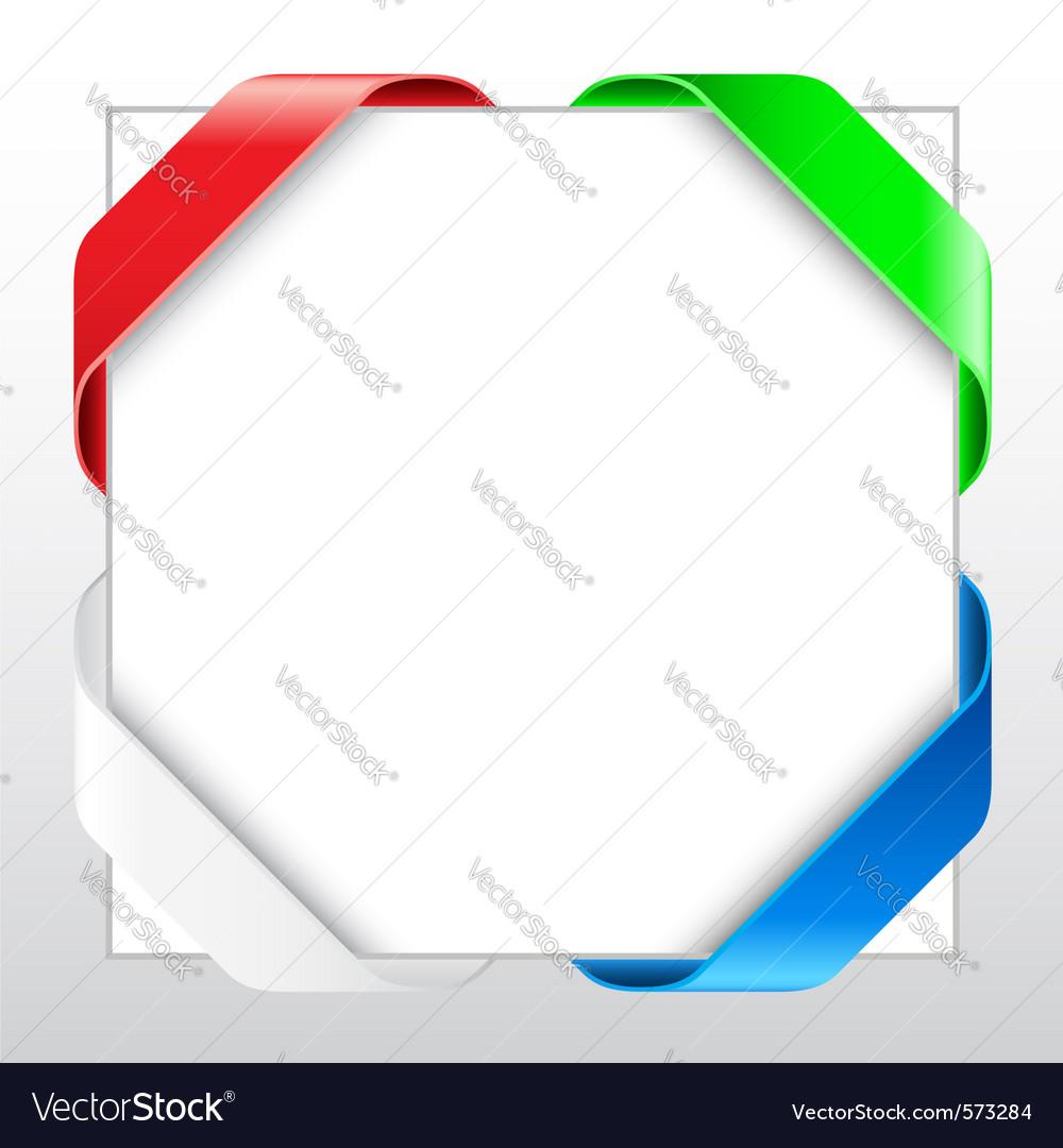 blank ribbon border royalty free vector image vectorstock