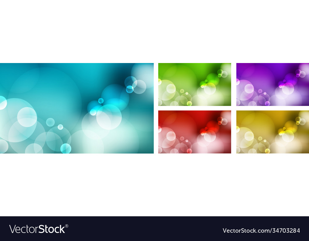 Set abstract blurred blue sky green nature