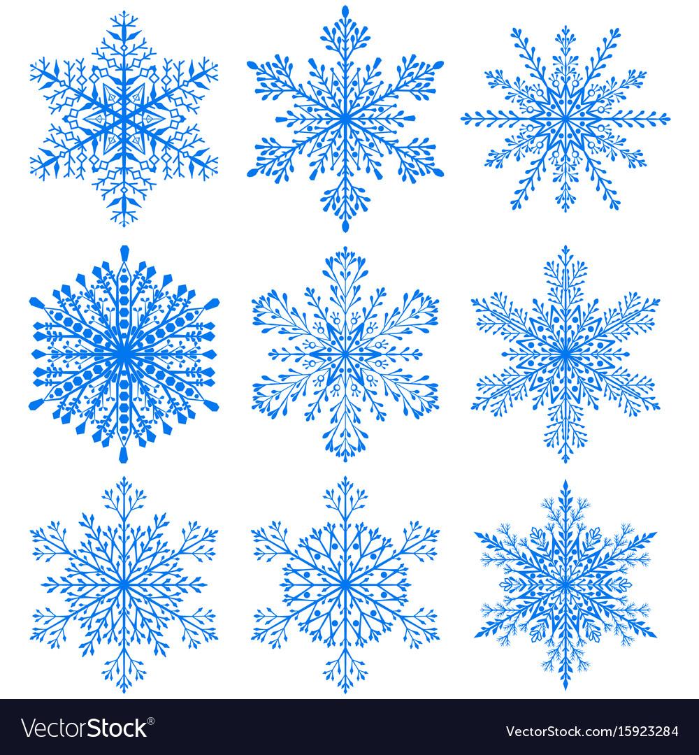 Set of christmas snowflakes