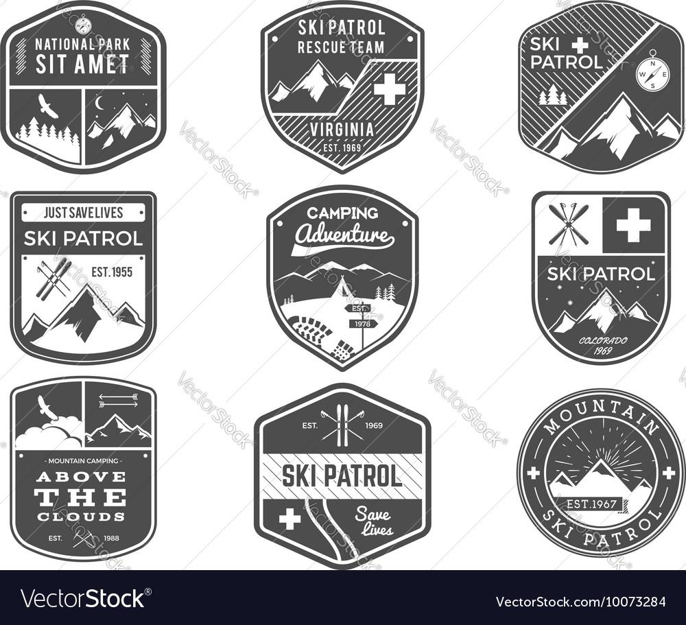 Ski Club Patrol Campsite Labels Collection