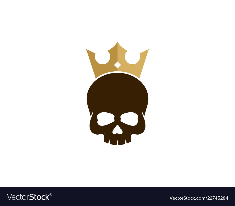 Skull king logo icon design