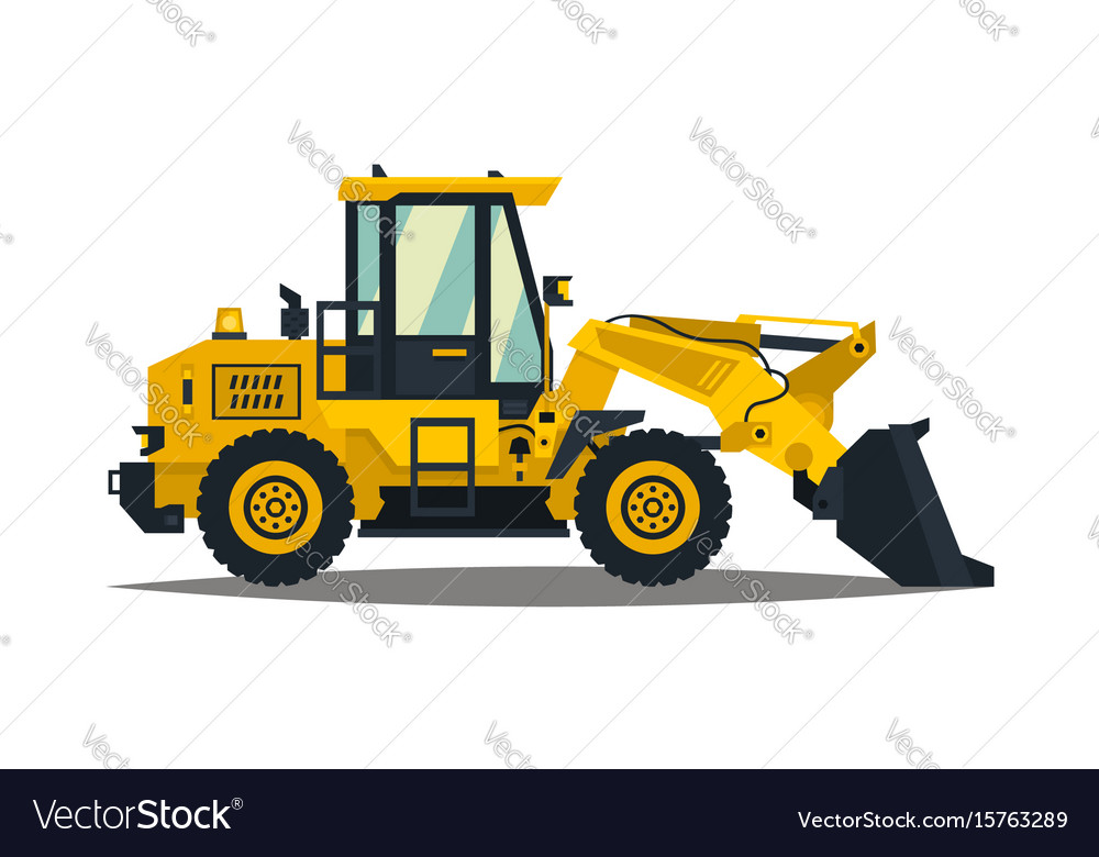 Front-end loader isolated on white background