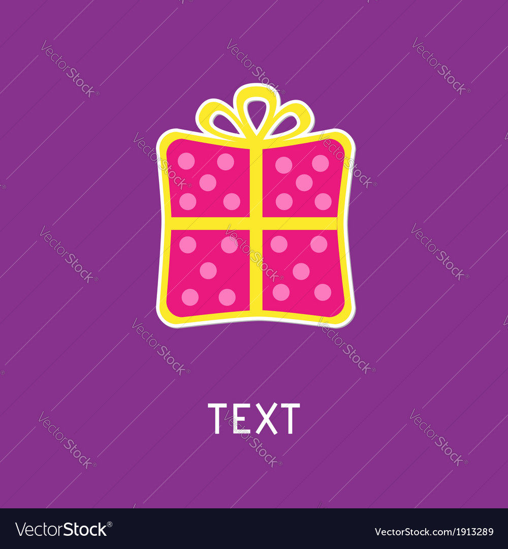 Gift box with ribbon and bow Card vector image