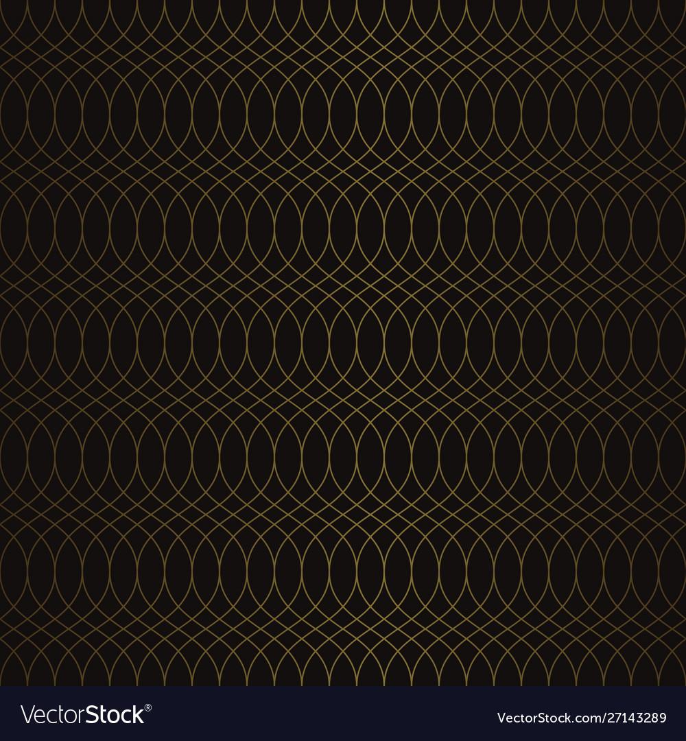 Golden vintage seamless pattern