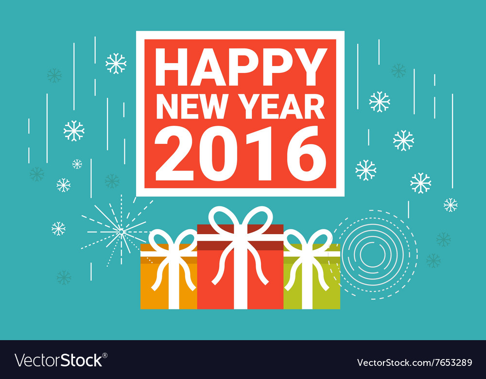 Happy New Year 2016 concept