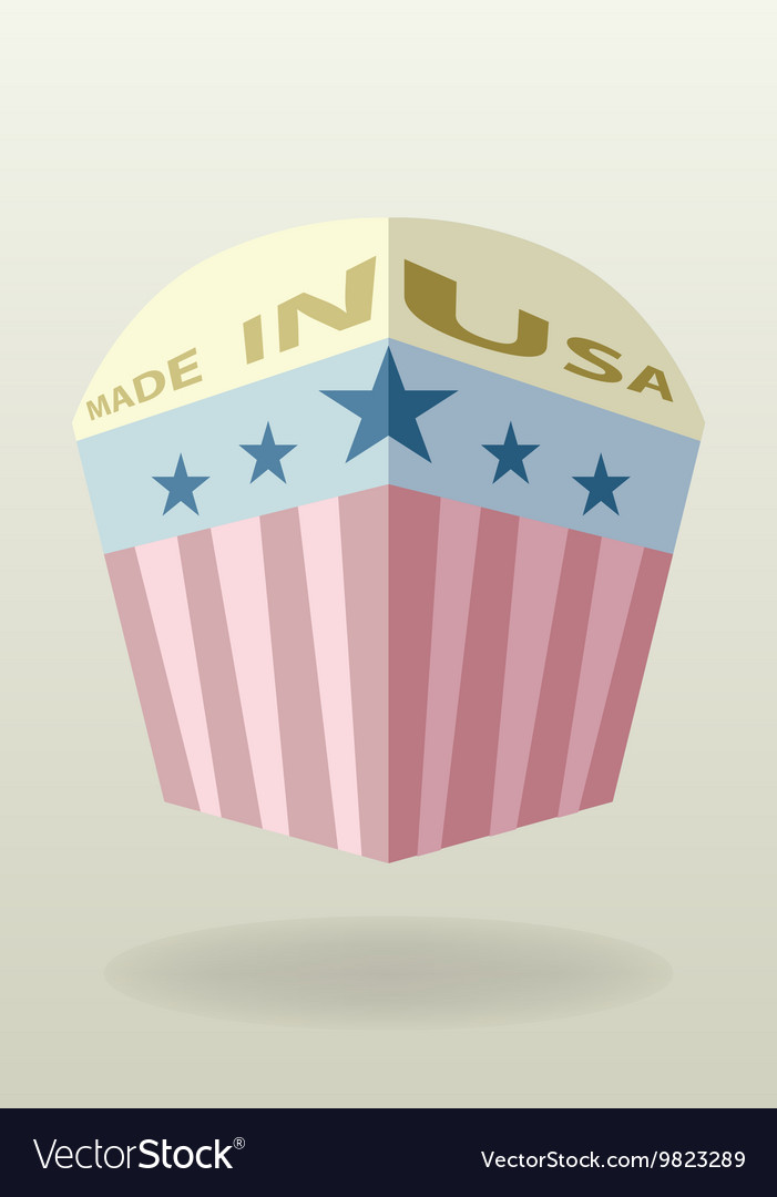 Made in usa label vintage style