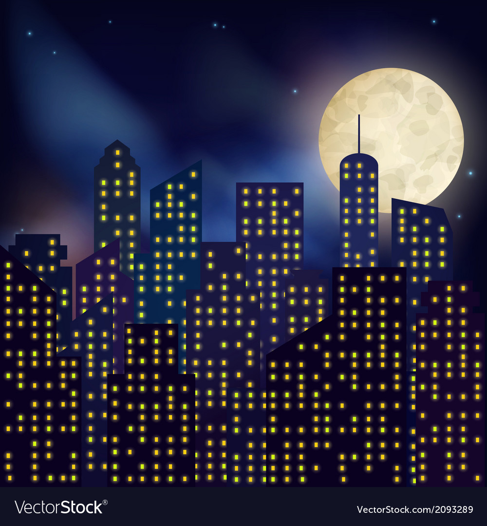 Night city poster