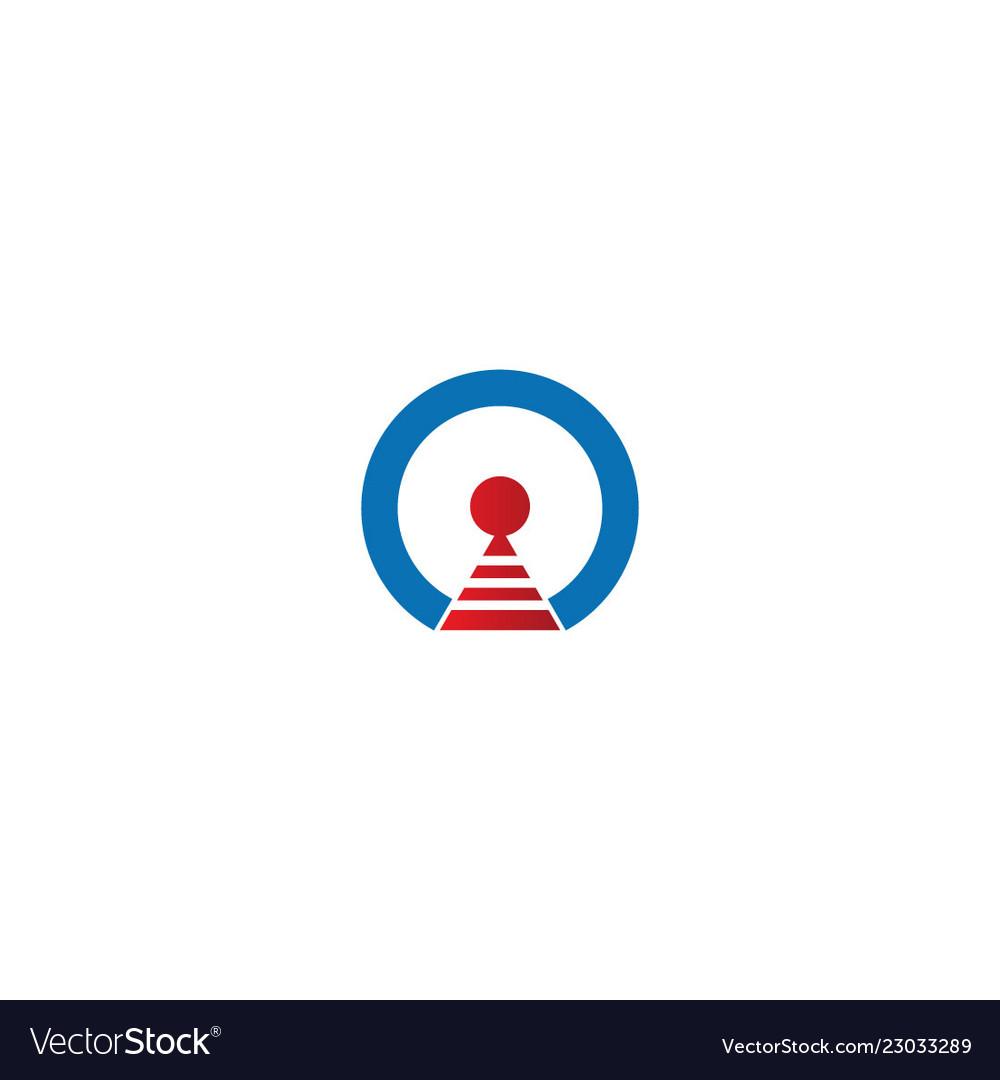 Round signal sign technology logo
