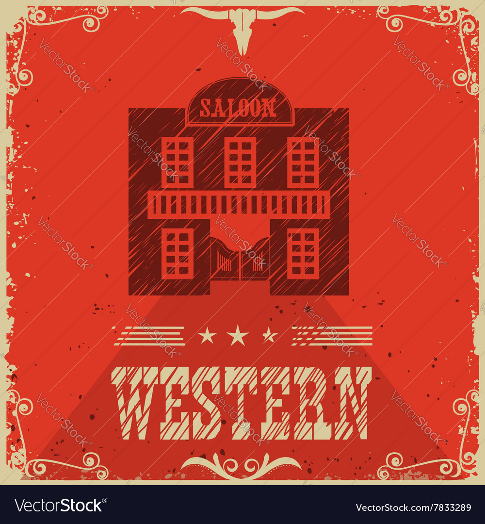 Western saloon poster background