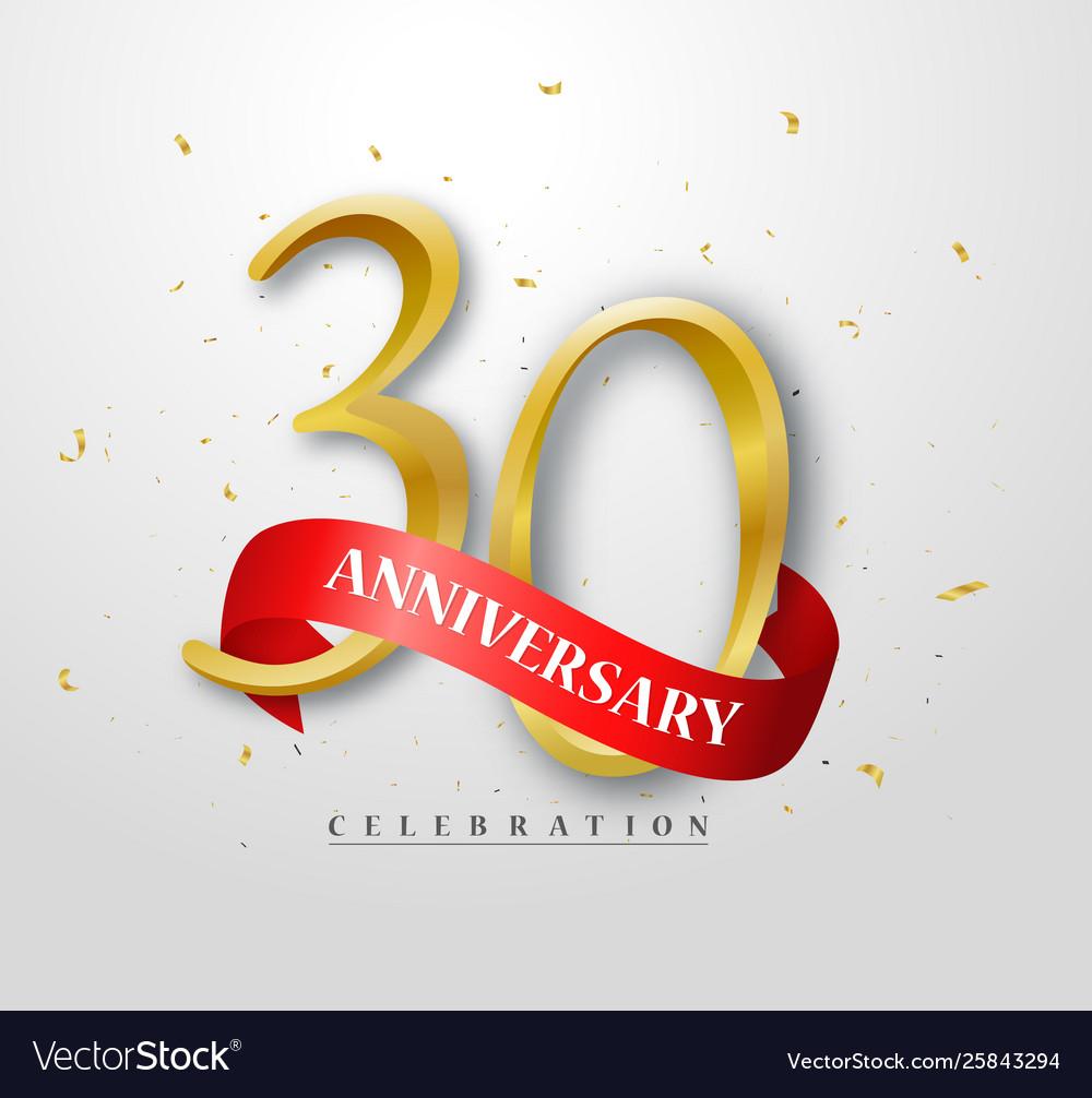 30 years happy anniversary banner celebration