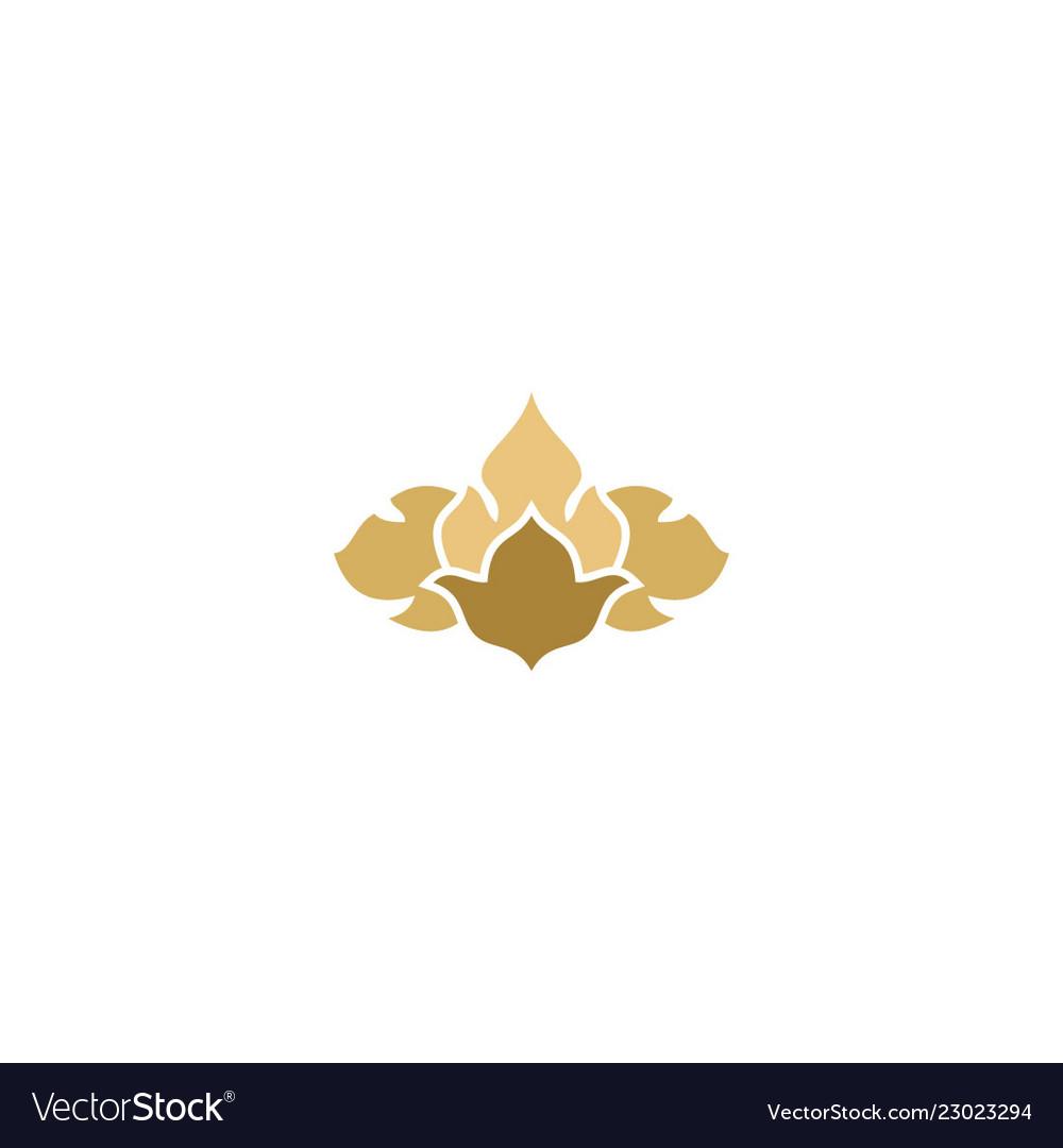 Abstract floral decorative design logo