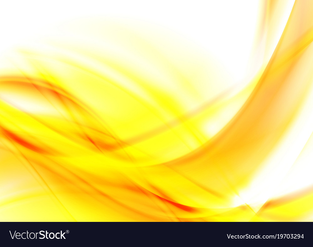 Bright yellow abstract glowing waves background Vector Image