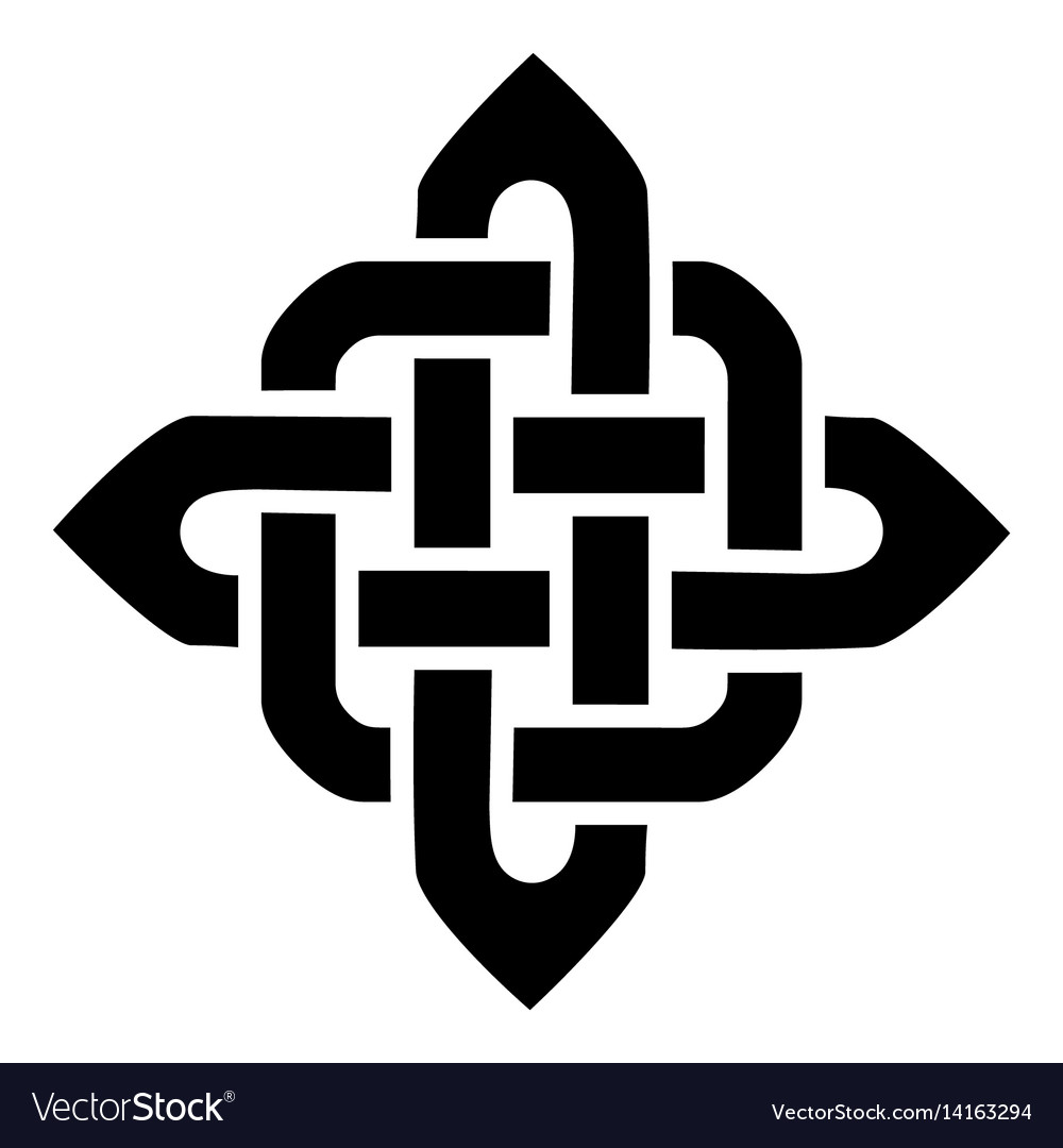 Celtic knotted square type element vector image