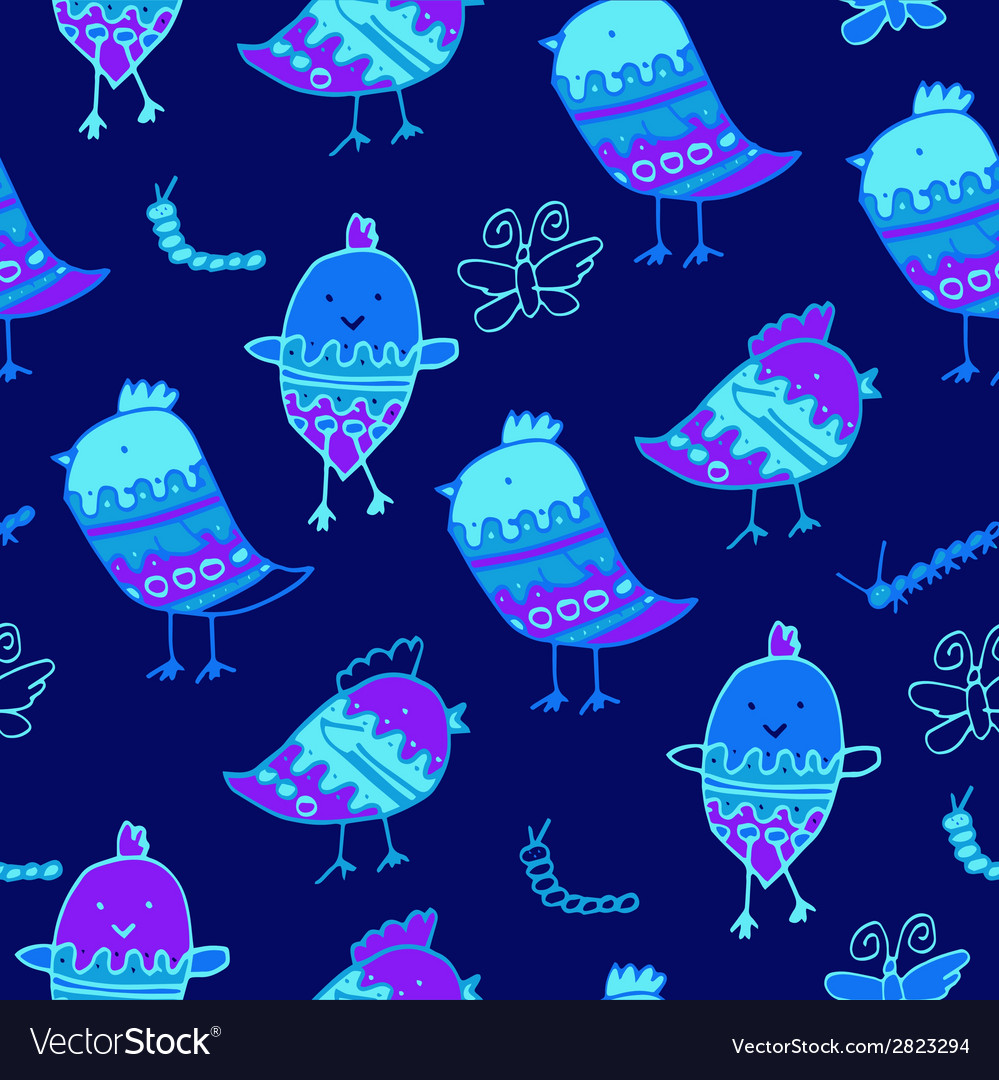 Cute colorful floral seamless pattern with owl and