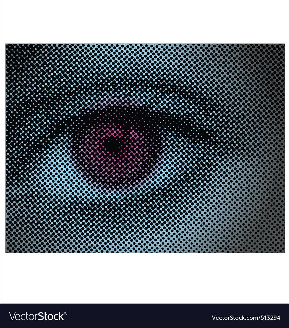 Eye halftone dots