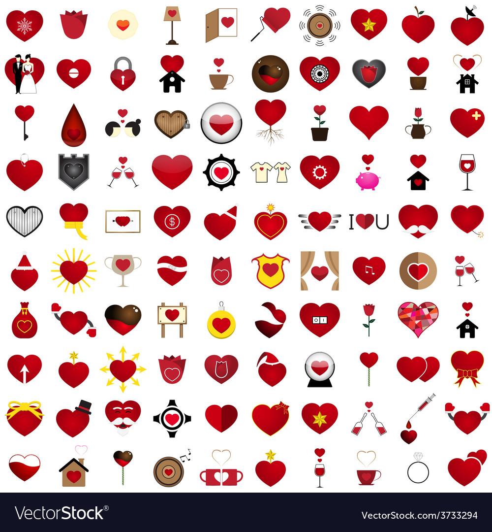 Love 100 Concept Shape Design Set 22