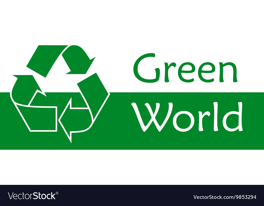 Recycle symbol or sign of conservation green icon vector image
