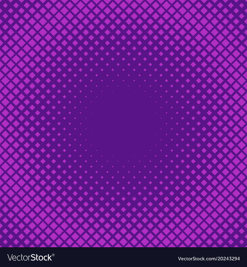 Retro halftone square pattern background vector image