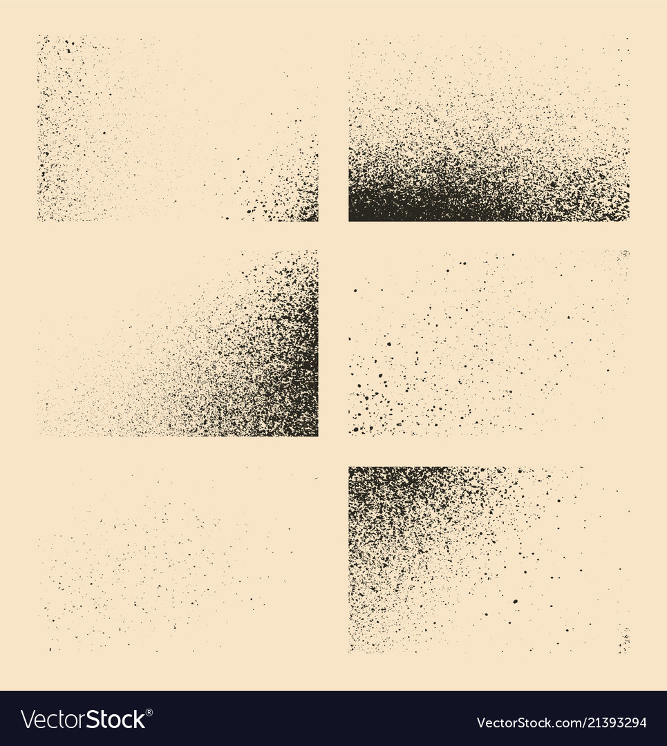 Set monochrome abstract splash stains textures