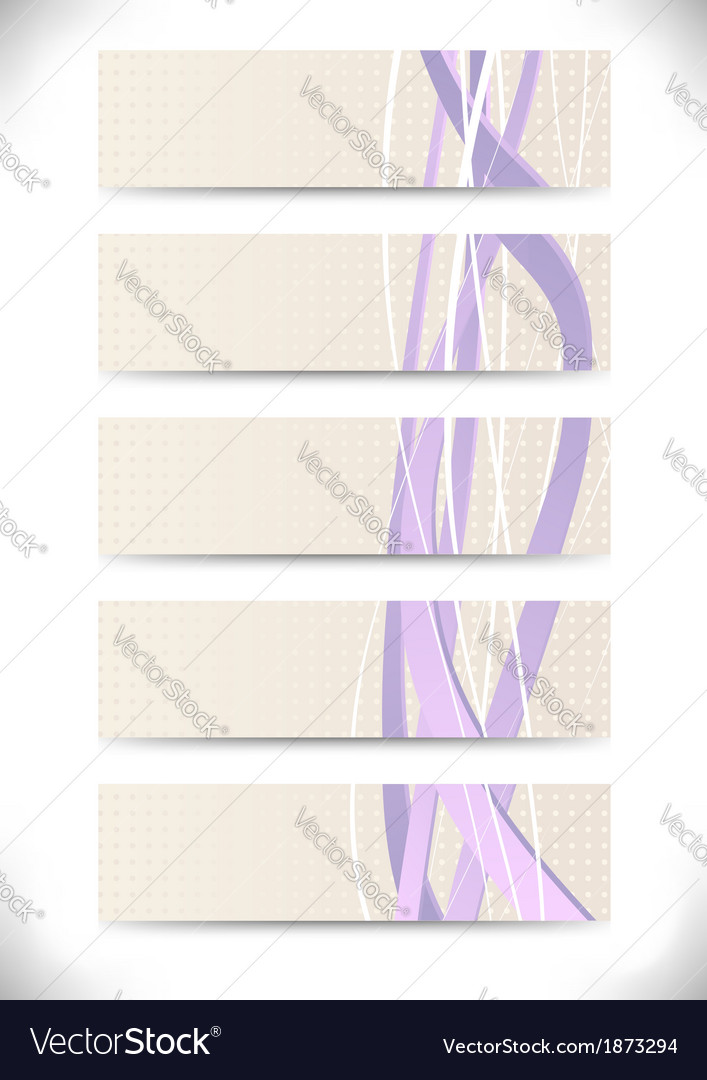 Set of business cards with purple swooshes