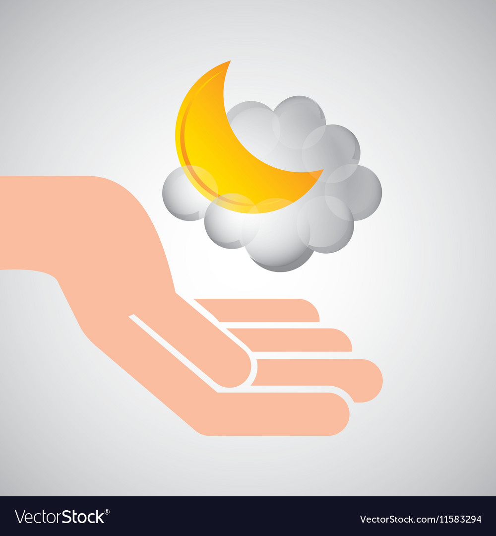 Weather concept forecast cloud halfmoon icon