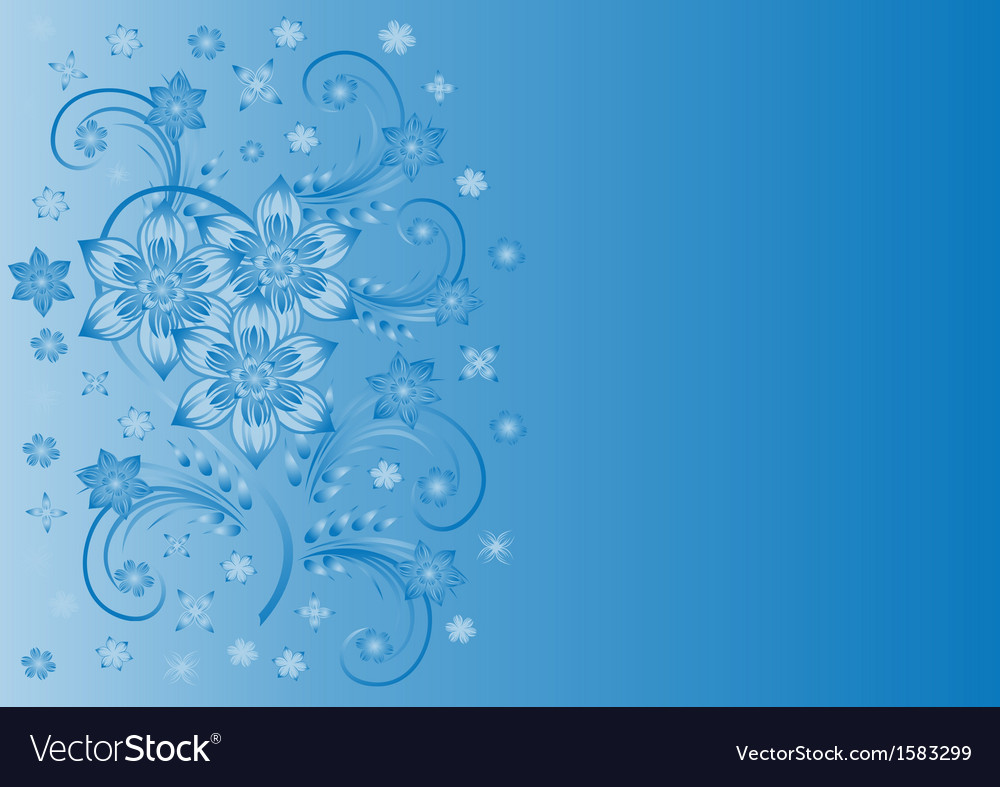 Abstract blue flowers with background royalty free vector abstract blue flowers with background vector image izmirmasajfo