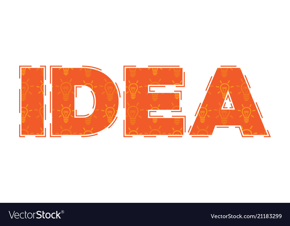 Idea flat design concept with light