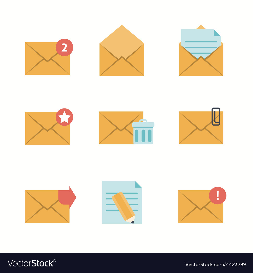 Message Icons Flat