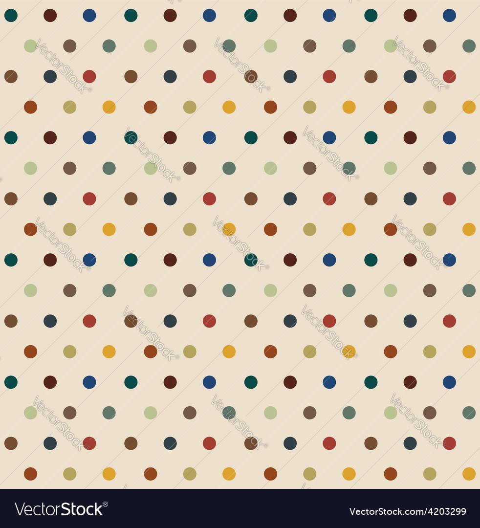 Stylish polka dots seamless background